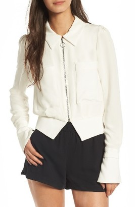 Women's Stone Cold Fox Harbor Silk Jacket $300 thestylecure.com