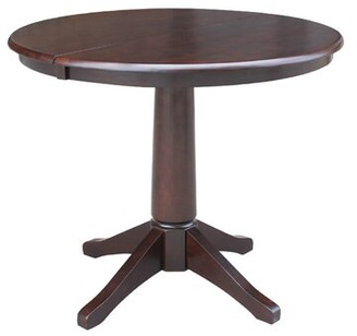 Cochrane Ophelia & Co. Extension Pedestal Solid Wood Dining Table Ophelia & Co.