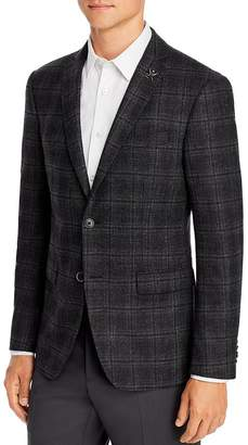 John Varvatos Mélange Plaid Slim Fit Sport Coat