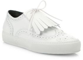 Robert Clergerie Tolka Calf Leather Brogue Sneakers $495 thestylecure.com