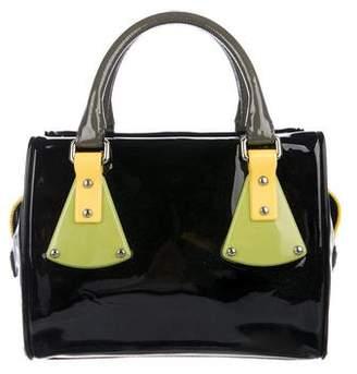 Giorgio Armani Patent Leather Handle Bag