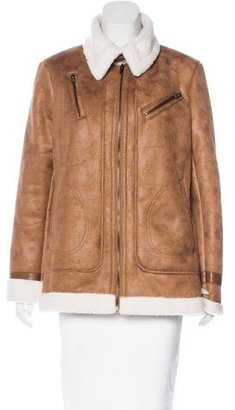 Rachel by Rachel Roy Vegan Leather Zip-Front Jacket $85 thestylecure.com