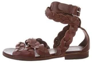 Balenciaga Braided Leather Strap Sandals