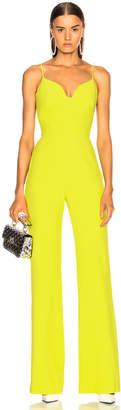 Brandon Maxwell Stretch Crepe Sweetheart Jumpsuit in Lime | FWRD