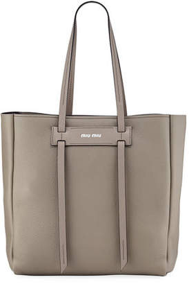 Miu Miu Daino Double-Handle Tote Bag