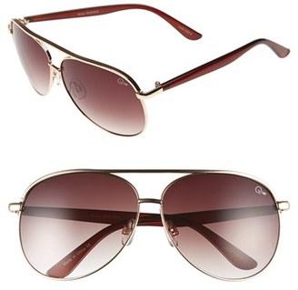 Junior Women's Quay Australia 'Macaw' 65Mm Aviator Sunglasses - Gold/ Brown Lens $50 thestylecure.com