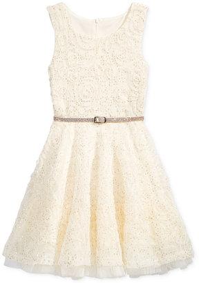 Beautees Soutache Sequin Special Occasion Dress, Girls (7-16) $56 thestylecure.com