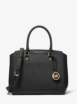 MICHAEL Michael Kors Park Large Saffiano Leather Satchel