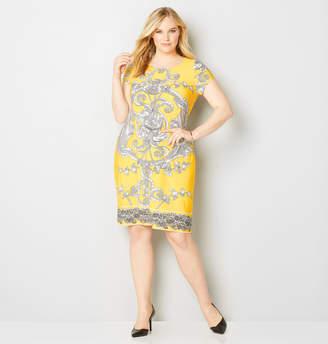 Avenue Large Scroll Sheath Dress