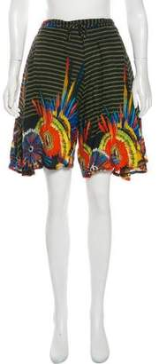 Jean Paul Gaultier Printed High-Rise Shorts