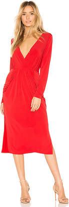 BCBGeneration Deep V Neck Drapey Pocket Dress