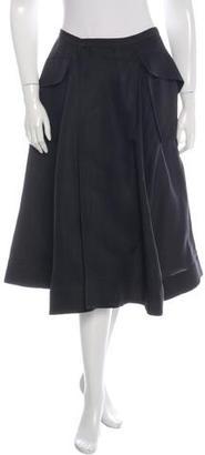 Jean Paul Gaultier Silk-Blend A-Line Skirt $175 thestylecure.com