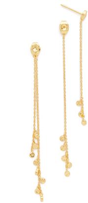 Gorjana Chloe Mini Double Drop Earrings $55 thestylecure.com