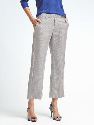 Logan-Fit Stripe Linen-Blend Crop Pant $98 thestylecure.com