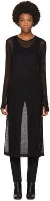 Maison Margiela Black Wool Underpinning Dress