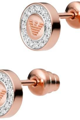 Emporio Armani Jewellery Ladies Sterling Silver Signature Earrings EG3054221