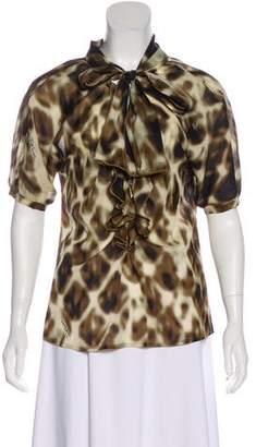 Just Cavalli Silk Printed Blouse