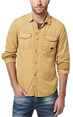Buffalo David Bitton Men's Sifscot Long Sleeve Fashion Woven Shirt