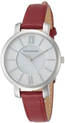 Pinky&Dianne (ピンキー エンド ダイアン) - [ピンキー&ダイアン]PINKY&DIANNE 腕時計 PD103 ステンレススチール シルバー文字盤 レッド革 クォーツ PD103SWHRD レディース