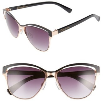 Women's Circus By Sam Edelman 56Mm Vented Cat Eye Sunglasses - Rose Gold/ Black $40 thestylecure.com