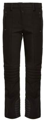 Moncler High Rise Twill Ski Trousers - Womens - Black