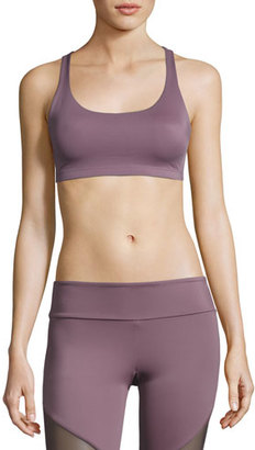 Onzie Chic Strappy Low-Impact Sports Bra, Light Purple $48 thestylecure.com