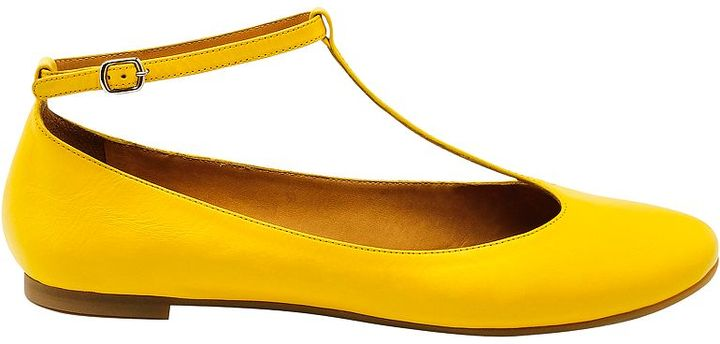 See by Chloe T-Bar Ballerina Pumps, Yellow