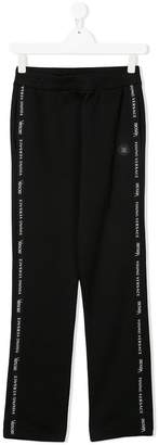 Versace TEEN piped logo track pants