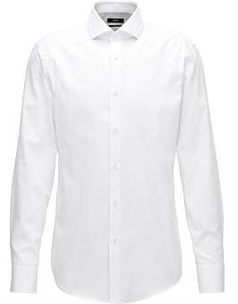 HUGO BOSS Micro-Structure Cotton Shirt In A Slim Fit