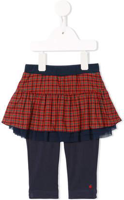 Familiar tartan skirt leggings