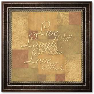 "Kohl's ""Live Well, Laugh Often, Love Much"" Framed Art Print by Stephanie Marrott"