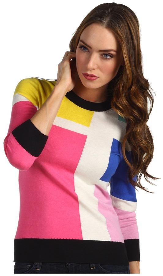 Kate Spade Meri Sweater Mondrian (Multi Mondrain) - Apparel