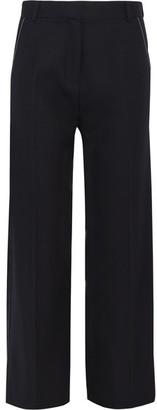 Topshop Unique - Hutton Wool-twill Wide-leg Pants - Navy $245 thestylecure.com