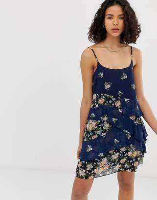 Pepe Jeans Mixed Floral Layered Mini Dress