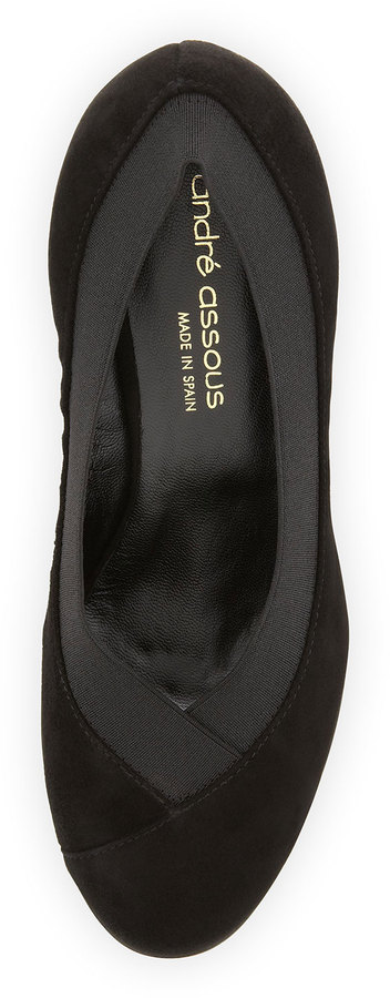 Andre Assous Blair Suede Slip-On, Black