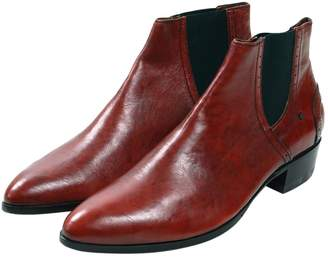 CNC Costume National Red Leather Boots