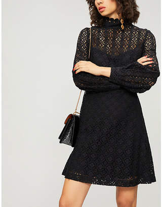 Claudie Pierlot Floral-lace mini dress