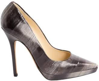 Jimmy Choo Anthracite Patent leather Heels