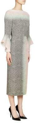Roland Mouret Goodwin Fluted Sleeve Pencil Dress