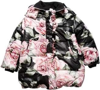 MonnaLisa Oversized Roses Print Puffer Coat