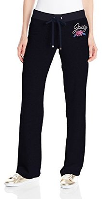 Juicy Couture Black Label Women's Logo Jc Aster Bouquets Vlr Bootcut Pant $128 thestylecure.com