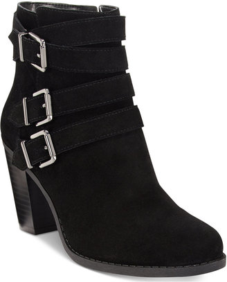 INC International Concepts Laini Block-Heel Booties, Only at Macy's $129.50 thestylecure.com