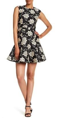 Ted Baker Peplum Hem Floral Embroidered Dress