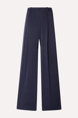 Vince Crepe Wide-leg Pants - Midnight blue