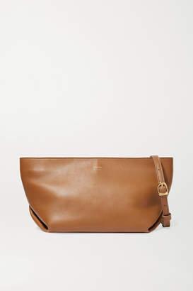 KHAITE Envelope Pleat Leather Shoulder Bag - Camel