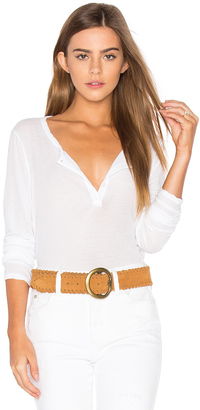 James Perse Button Down Henley $135 thestylecure.com