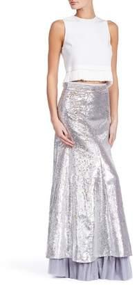 TOV Sequin A-Line Maxi Skirt