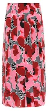 Gucci Poppies silk skirt