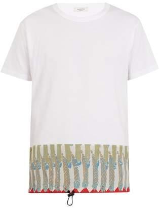 Valentino Feather Print Cotton Jersey T Shirt - Mens - Cream