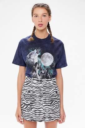 Urban Outfitters Mia Zebra Print Mini Skirt